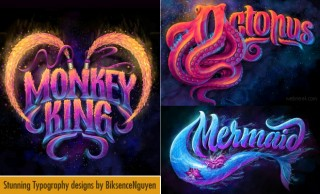Stunning Typography Designs and illustrations by Biksence Nguyen