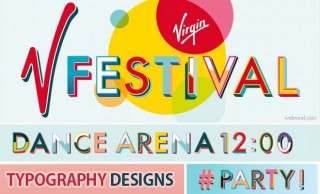 beautiful typography designs for v festival created by paula benson and paul west at form