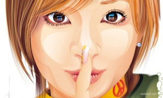 Creating vector women face is simple now, see the references