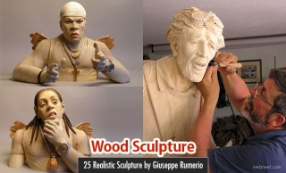 25 Realistic Wood Sculpture Art works by Giuseppe Rumerio