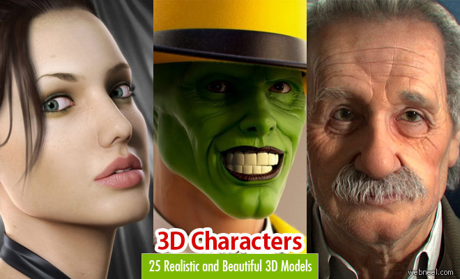 20 Beautiful 3d Celebrity Models and Character Designs