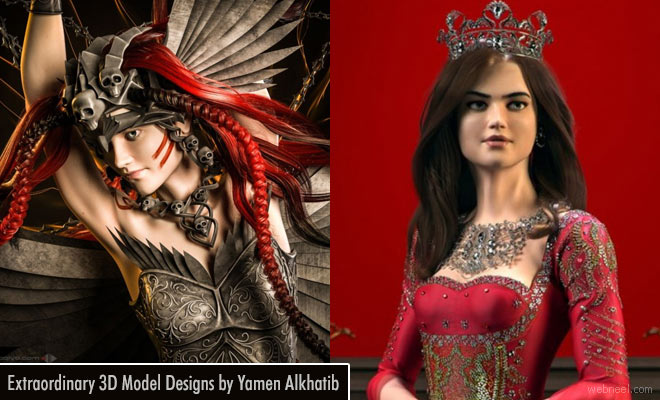 Extraordinary 3D model designs of Turkish designer Yamen Alkhatib