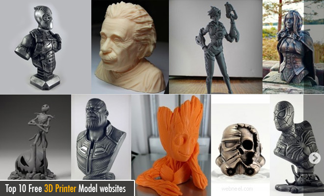 Top 10 Free 3D Printer Model websites - Download free printable models