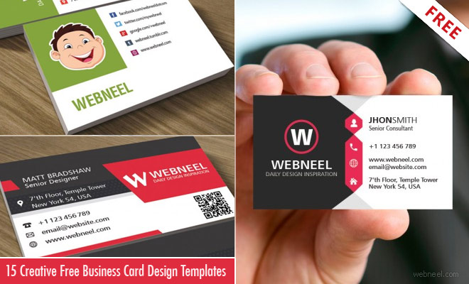 15 Creative and Simple Business Card Design Templates - Free Download