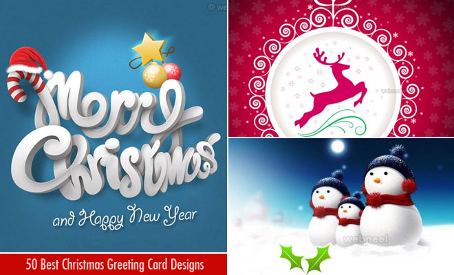 50 Best Christmas Greeting Card Designs from top designers
