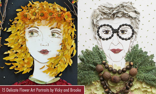 15 Creative and Delicate Flower Art Portraits by Vicky and Brooke