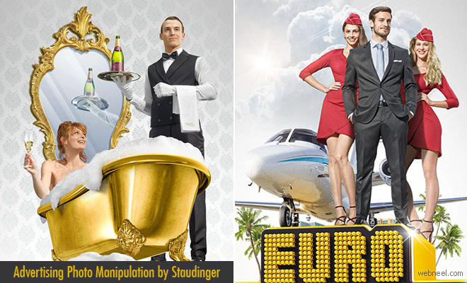 Win a Jackpot Fly to Moon Advertising Photo Manipulation by Staudinger and Mladen Penev