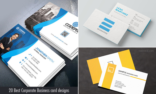 20 Best Corporate Business Card Design ideas for your inspiration