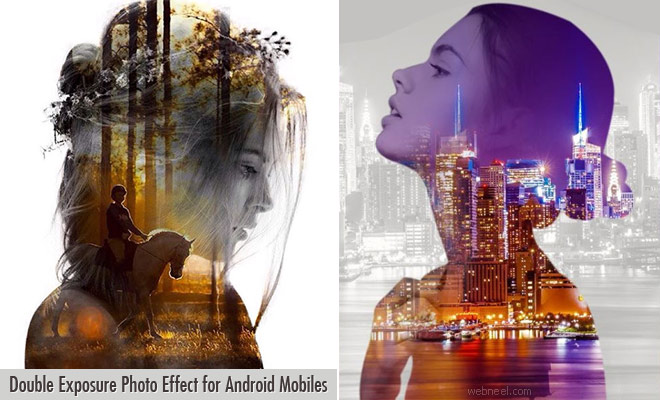 Double Exposure Blending effect Photo editing app for Android Mobiles