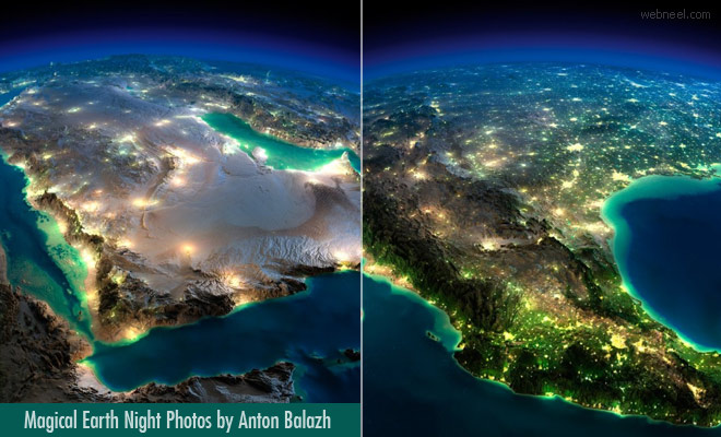 3D Surreal Earth Night Photos is a Magical Wonder Put together by Anton Balazh