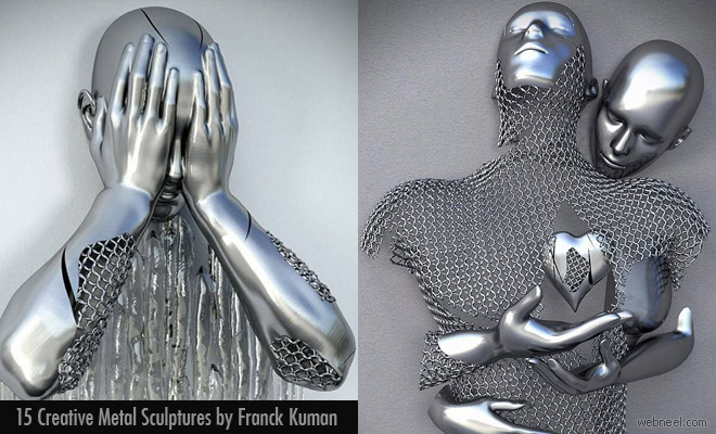 Pray for the Wounded Soul - Metal Sculptures by Franck Kuman