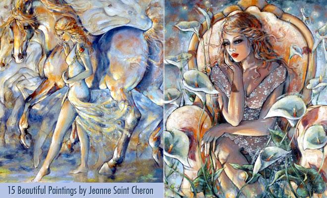 Feminism is Poetry Beautiful Fantasy Paintings by Jeanne Saint Cheron