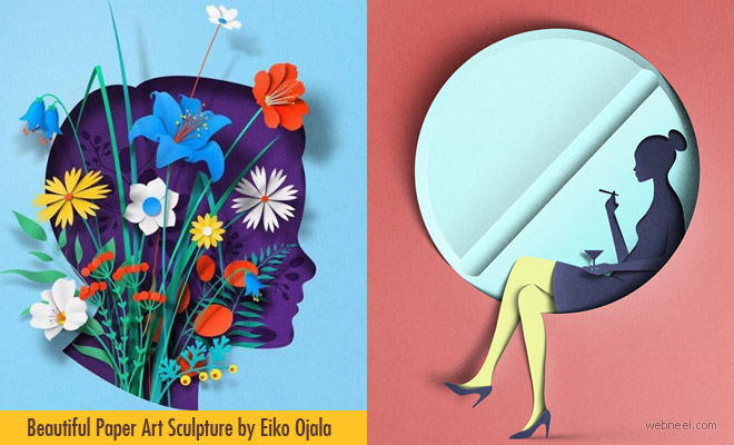 Lost in Thought - Beautiful Paper Sculpture and artworks by Eiko Ojala
