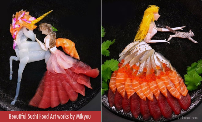 15 Beautiful and Creative Sushi Food Art works by Mikyou