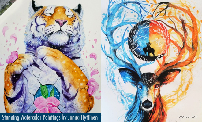 Dare to Dream Stunning Watercolor Paintings by Jonna Hyttinen