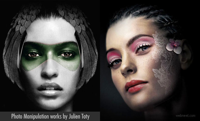 Mysterious Women Face Photo Manipulation and Retouching works by Julien Toty
