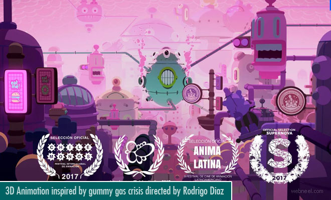 3D Animation inspired by Gummy gas crisis directed by Rodrigo Diaz