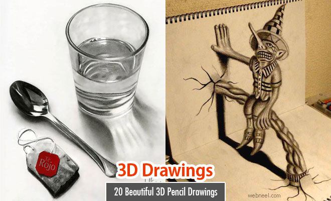25 Beautiful 3D Pencil Drawings and 3D Art works - Part 2