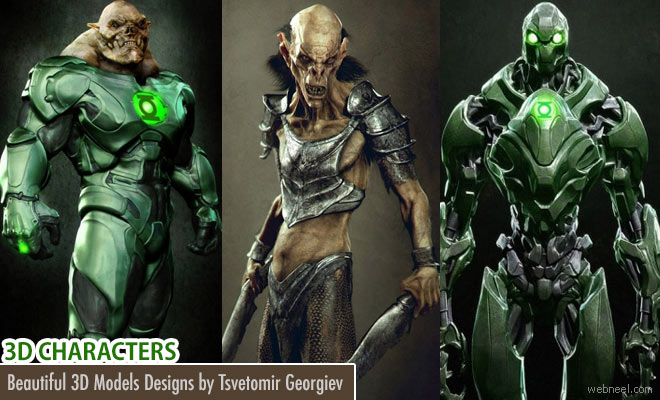 20 Beautiful and Award Winning 3D Model designs by Tsvetomir Georgiev