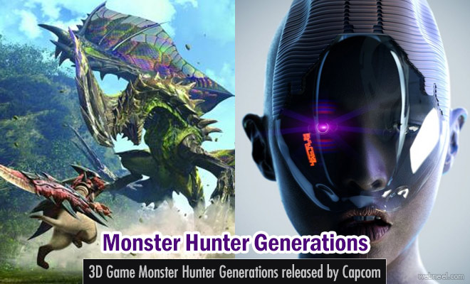 3D Game Monster Hunter Generations released by Capcom