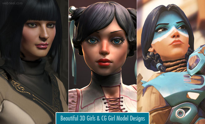 23 Beautiful 3D Girls and CG Girl Model Designs for your inspiration