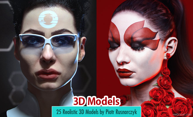 25 Beautiful and realistic 3D Models created by Piotr Rusnarczyk and Yuzijiang