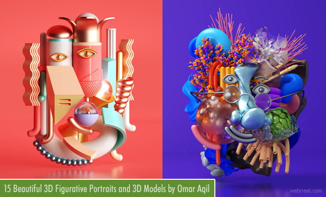 15 Beautiful 3D Figurative Portraits and 3D Models by Pakistani CGI Artist Omar Aqil