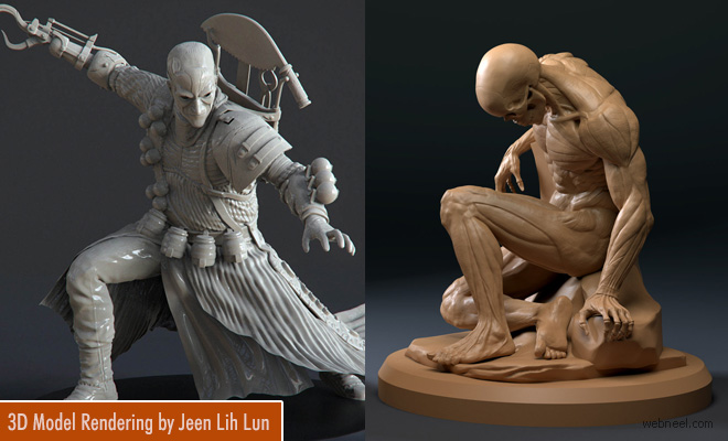 Beautiful 3D Model designs by Vancouver 3d character artist Jeen Lih Lun