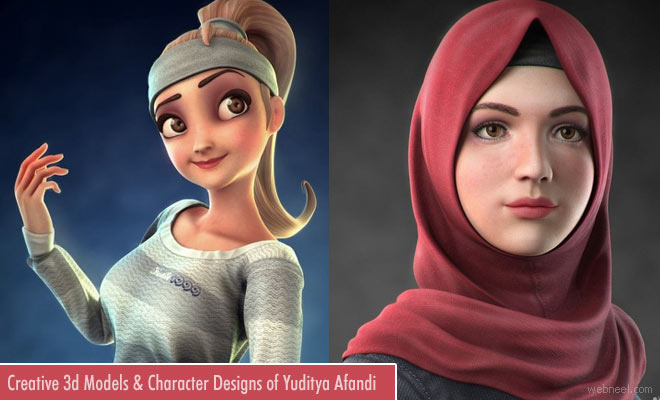 Creative 3d Models and Character Designs of Yuditya Afandi