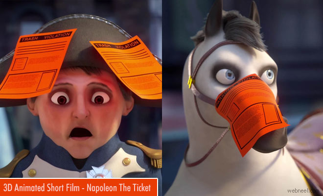 Award winning Best 3D Animated Short Film Napoleon The Ticket