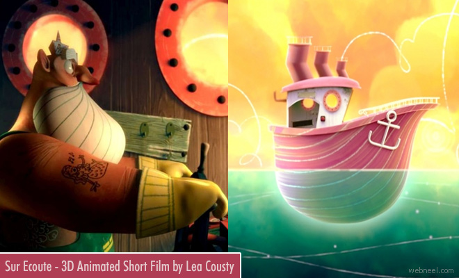 Sur Ecoute - Beautiful 3D Animated short film by Lea Cousty