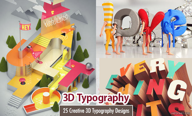 3D Typography Designs