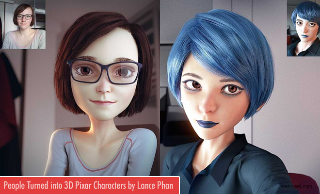 Strangers Turned into 3D Model Designs by Lance Phan