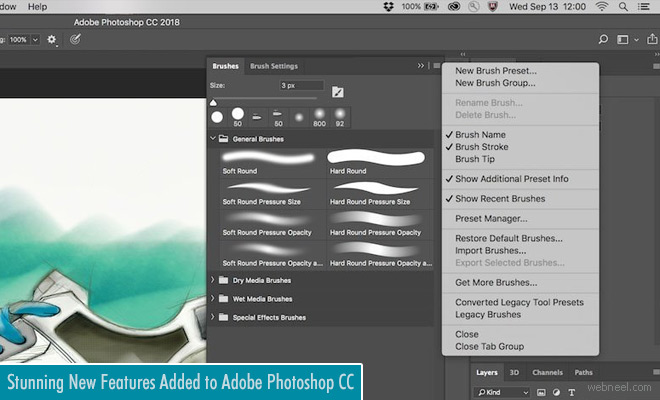 New Features on Adobe Photoshop CC Like Curvature Pen - Brush Upgrades