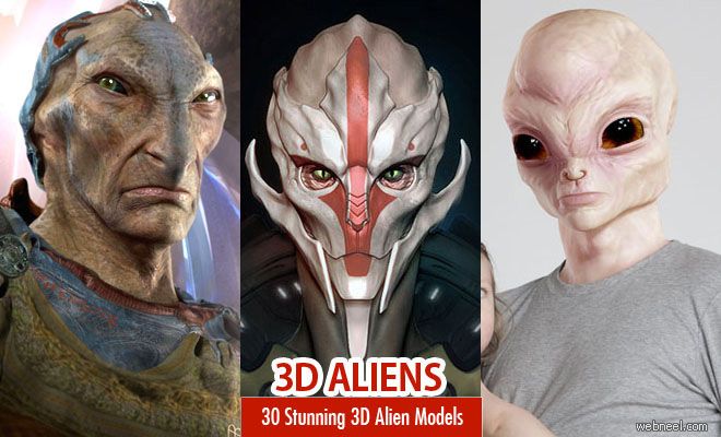 30 Stunning 3D Alien Models and Alien Characters for your inspiration