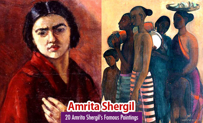 20 Famous Paintings and Old Artworks of Indian Painter Amrita Shergil