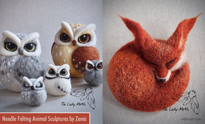 Stunning Needle Felting and Wet Felting Animal Sculptures by Zenia