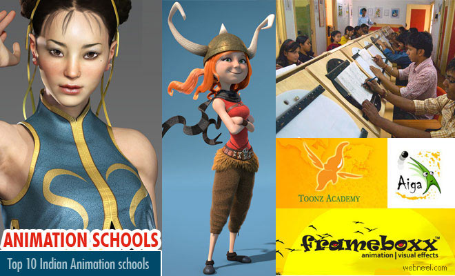 Top 10 Animation Schools, Colleges and Animation Courses from India