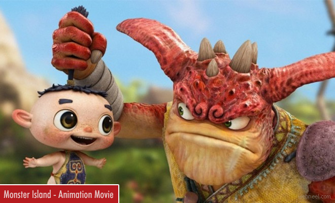 Monster island - Funny 3D Animation Movie Trailer And Review
