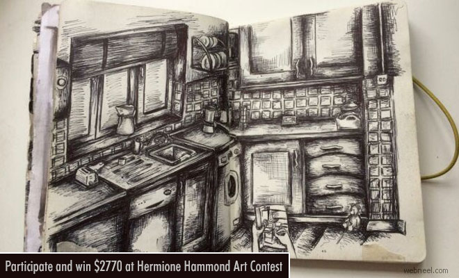 Participate and win $2770 at Hermione Hammond Art Contest - 20 April 2018