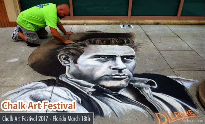 9th Chalk Art Festival 2017 - 18 March 2017 at Florida