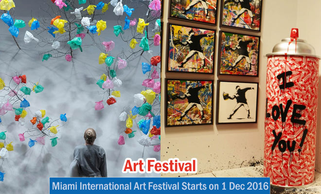 International Art exhibition at Basel Miami - Starts on 1 Dec 2016