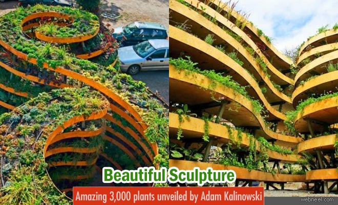 Beautiful sculpture with amazing 3000 plants unveiled by Adam Kalinowski