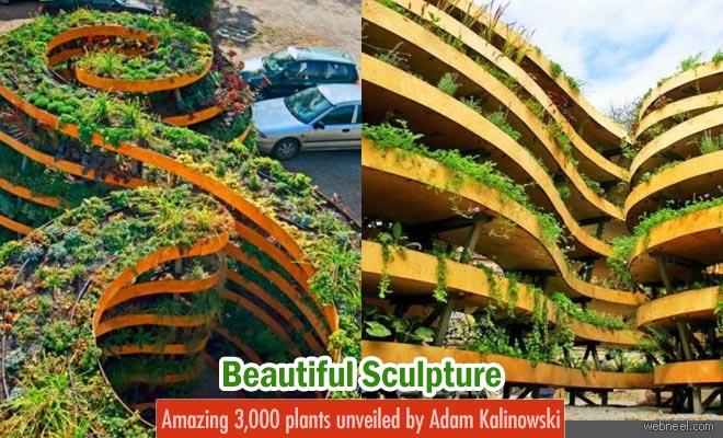 Beautiful sculpture with amazing 3000 plants unveiled by Adam Kalinowski
