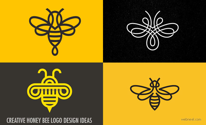 25 Creative Honey Bee logo design ideas from Top Designers