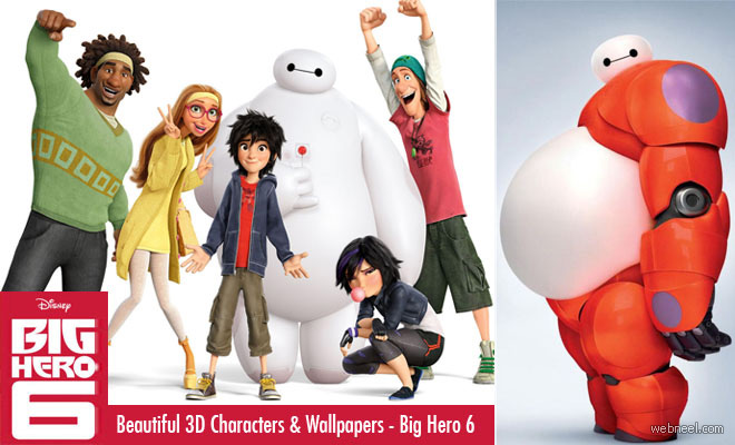 Big Hero 6 - Beautiful Disney Animation Movie 3D Characters, Trailers, Wallpapers