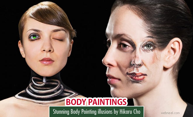 Stunning Body Painting illusion art works by Hikaru Cho