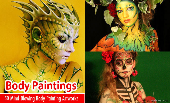 50 Mind-Blowing Body Painting Art works from World BodyPainting Festival
