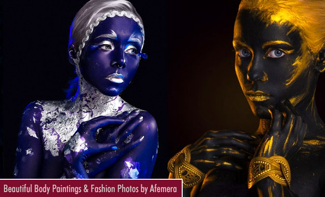 Beautiful Body Painting ideas and Fashion Photographs by Afemera