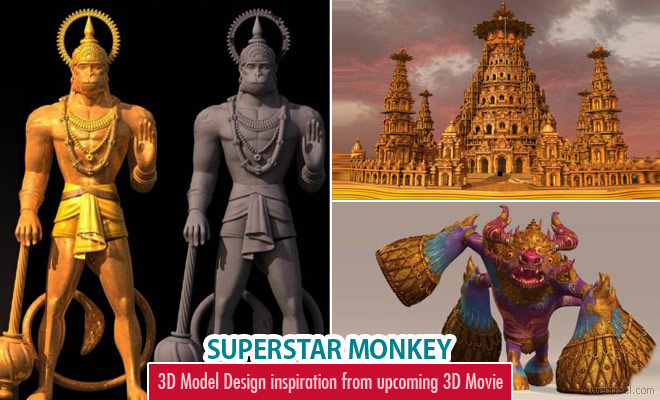 3D Model Design inspiration from upcoming 3D Movie Bollywood Superstar Monkey